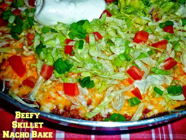 The Weekend Gourmet: One Pot Recipes #SundaySupper...Featuring Beefy Skillet Nacho Bake