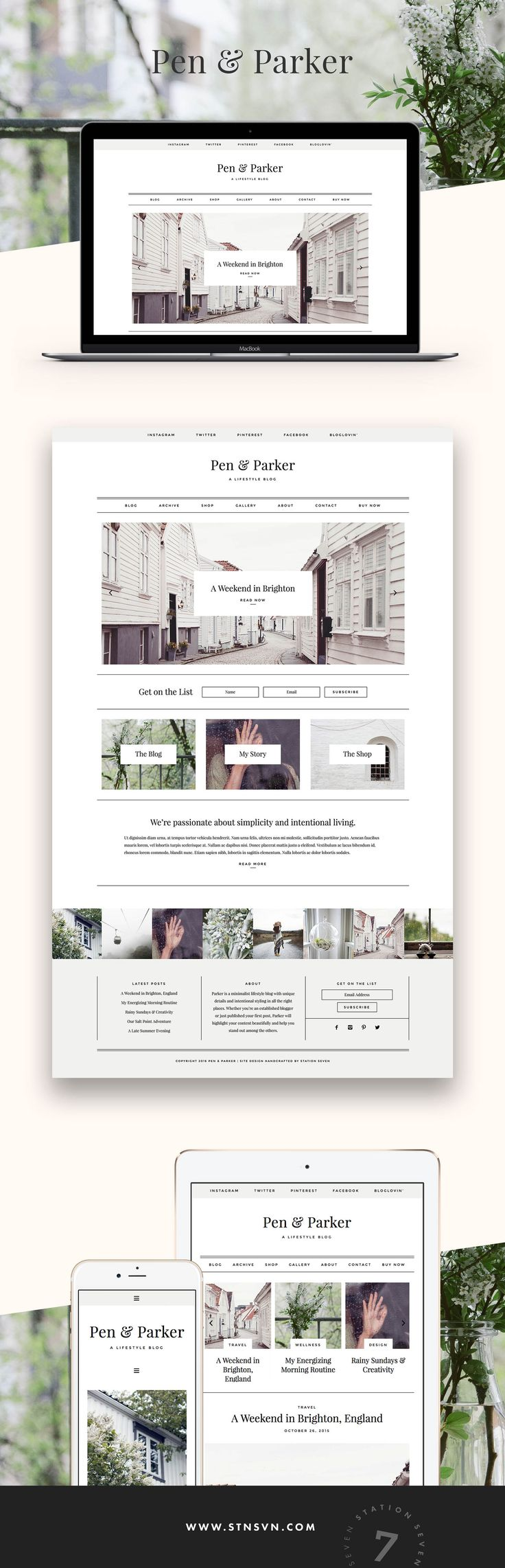 Say hello to Parker, a WordPress theme from Station Seven with unique details and intentional styling in all the right places. https:∕∕stnsvn.com #webdesign