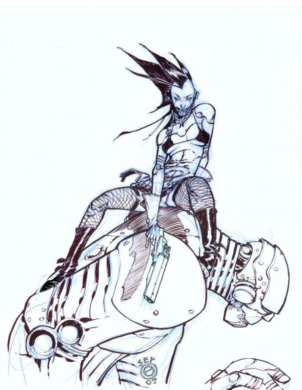 Ladytron by Eric Canete Comic Art