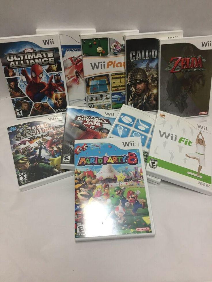 Details about Nintendo Wii Lot 10 Games Mario Zelda