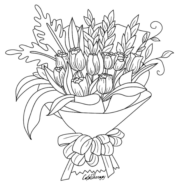 100 best flower coloring pages images on Pinterest