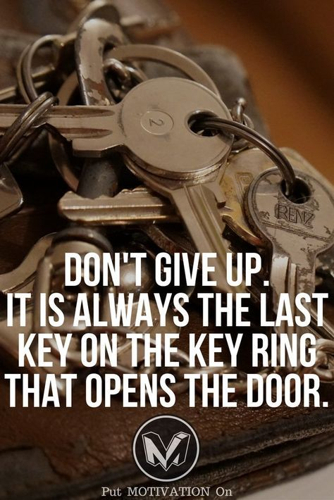 Don't Give Up. Follow all our motivational and inspirational quotes. Follow the link to Get our Motivational and Inspirational Apparel and Home Décor. #quote #quotes #qotd #quoteoftheday #motivation #inspiredaily #inspiration #entrepreneurship #goals #dre https://www.musclesaurus.com