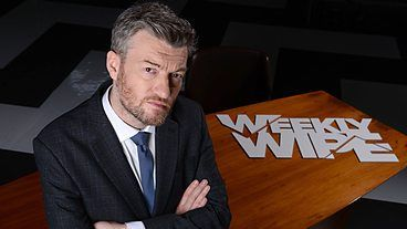 Weekly Wipe. Charlie Brooker and guests cast their collective eyes over all that the telly, cinema, news and computer games have to offer, in order to wring a little laughter from a hilariously troubled world