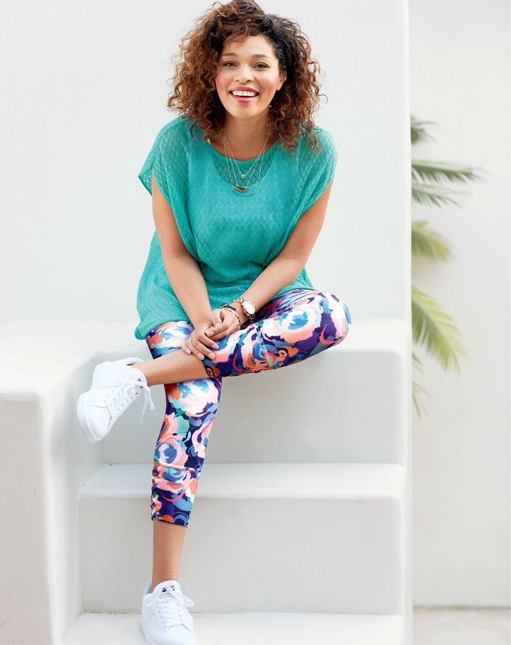 """Introducing the Ruby Ribbon version of the fun and funky leggings — we call the pattern """"Smudge"""" and it's a limited edition option in our Criss Cross Leggings. Super fun, ve…"""