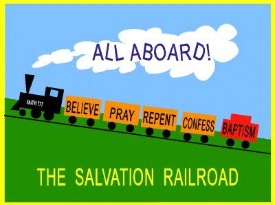 Church Bulletin Board Ideas | Children's Sunday School Bulletin Board Idea - Salvation Railroad