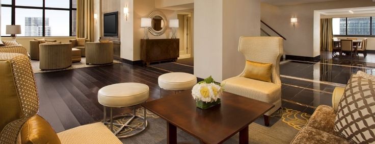 Penthouse Suite Living Space at Sheraton New York Times Square Hotel