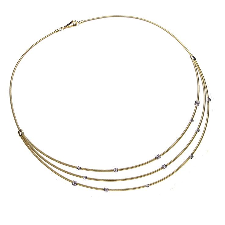 Necklace Diamonds Gold 18k