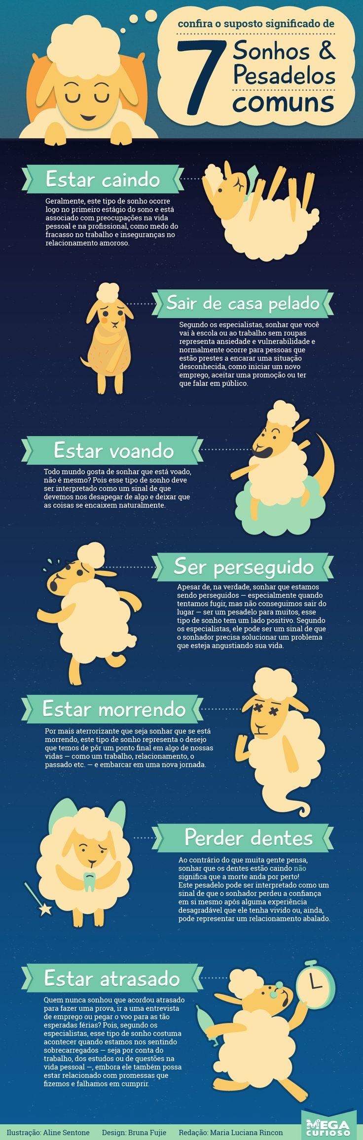 Confira o suposto significado de 7 sonhos e pesadelos comuns