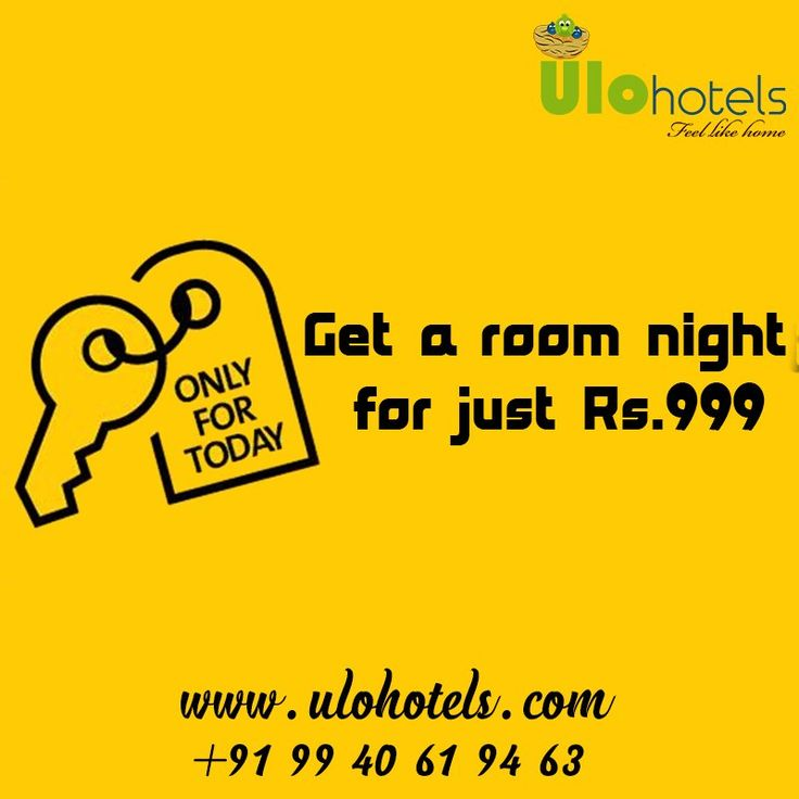 Today offer! Get a #Room night for just Rs.999. For booking: www.ulohotels.com or call +91 99 40 61 94 63. #Hotels #Resorts #Cottages