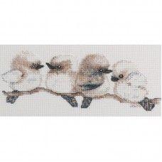 Lesley Suzanne Davies Kookaburras Cross Stitch Kit