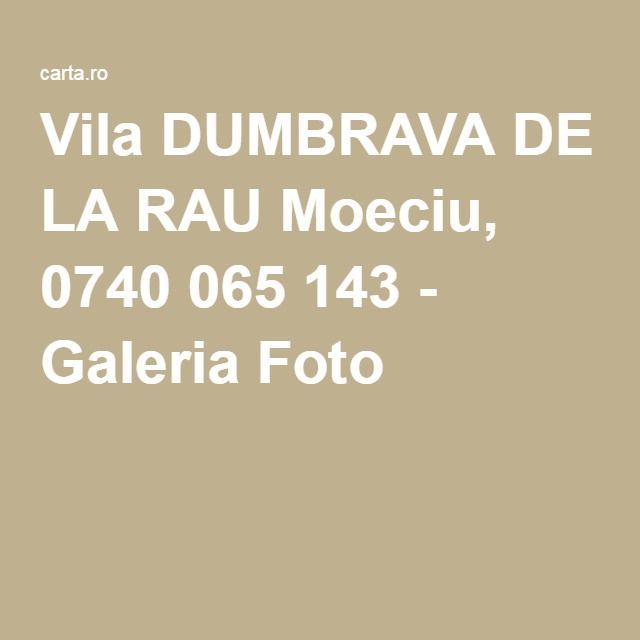 Vila DUMBRAVA DE LA RAU Moeciu, 0740 065 143 - Galeria Foto