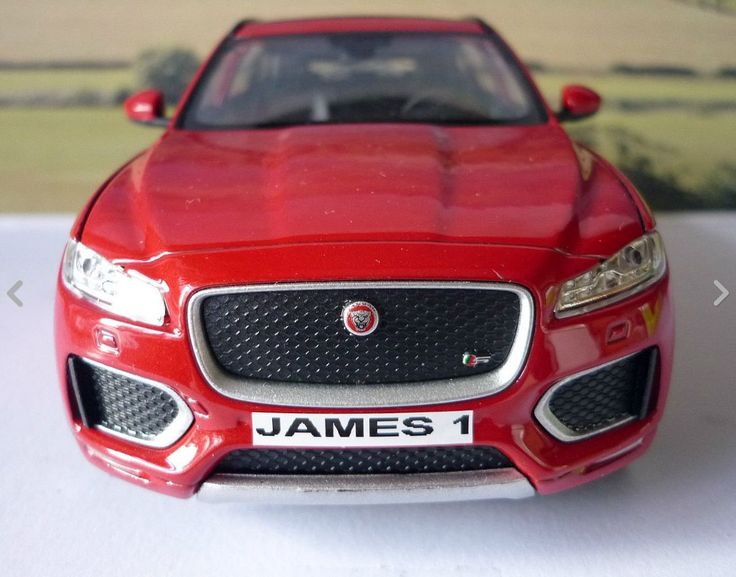Personalised Plate Red JAGUAR F-PACE 1/24.