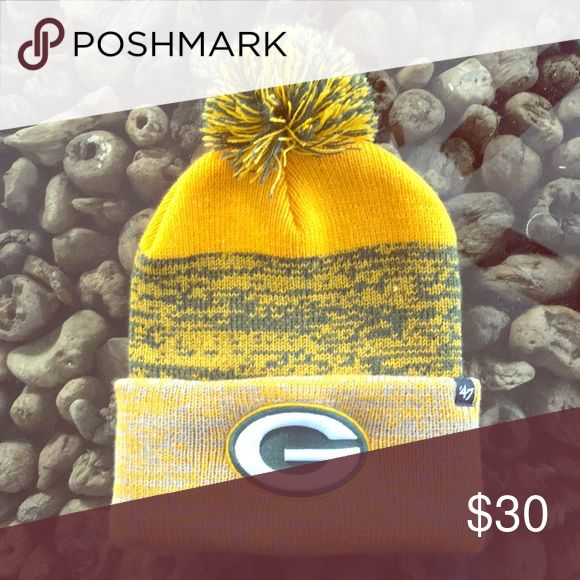 Green Bay Packers stocking hat. Green Bay Packers hat. Worn once at Green Bay Packers game. Accessories Hats