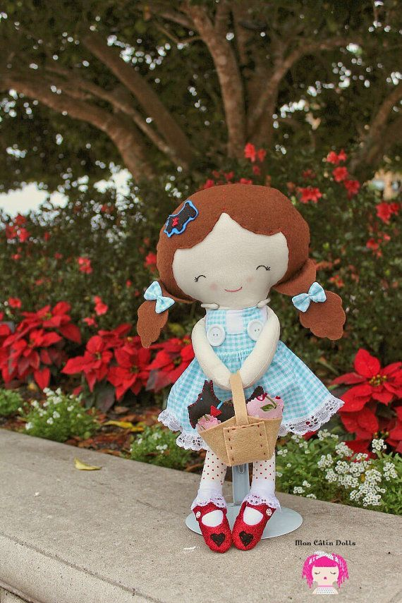 Wizard of Oz Dorothy Doll with Toto by MonCalinDolls on Etsy