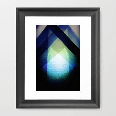 REFLECTION PATTERN II Framed Art Print by Uta Krauss - $36.00 #art #framed #print #abstract #geometric #cool #lifestyle #men #office #living room #design #lines