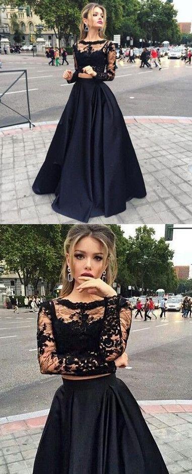 long prom dresses, Long Sleeve lace prom dresses, see through prom dresses, prom dresses clearance, black prom dresses