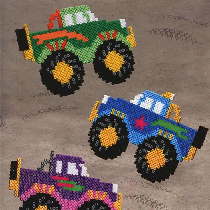 Monster Trucks Hama Beads