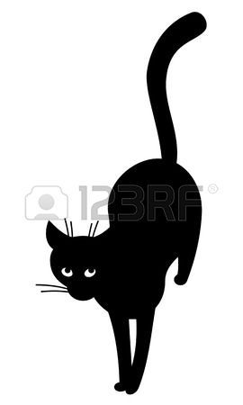 1000 id es sur le th me tatouages silhouette de chat sur - Tatouage silhouette chat ...