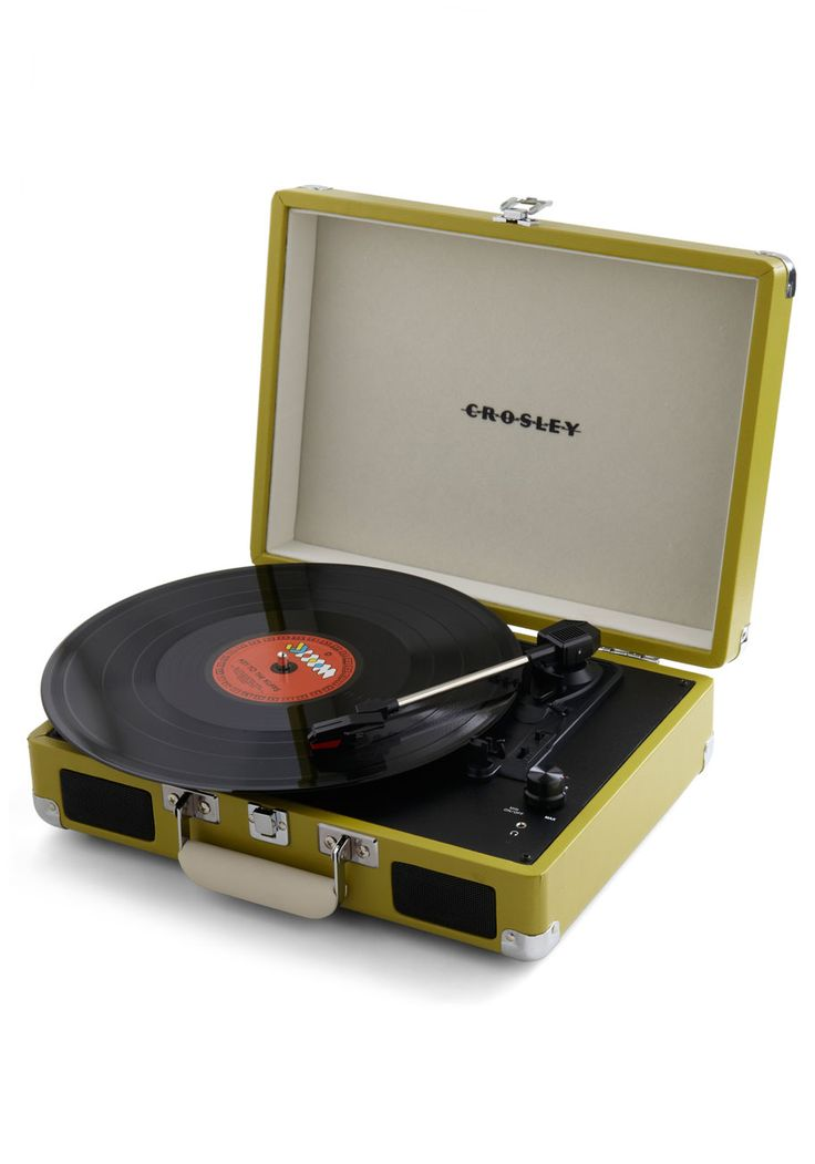 Take Your Turntable in Green - Green, Dorm Decor, Vintage Inspired, Graduation, Travel, Top Rated