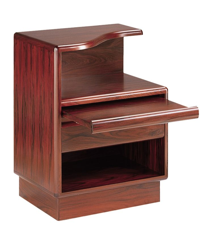 Mobican Prestigia contemporary wood bedroom curved top night table with one drawer and one pull-out shelf PRE22.