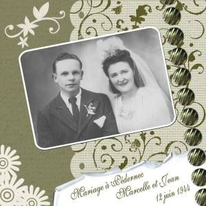 Mariage - Album de pages de scrap. - Galerie Scrapbooking