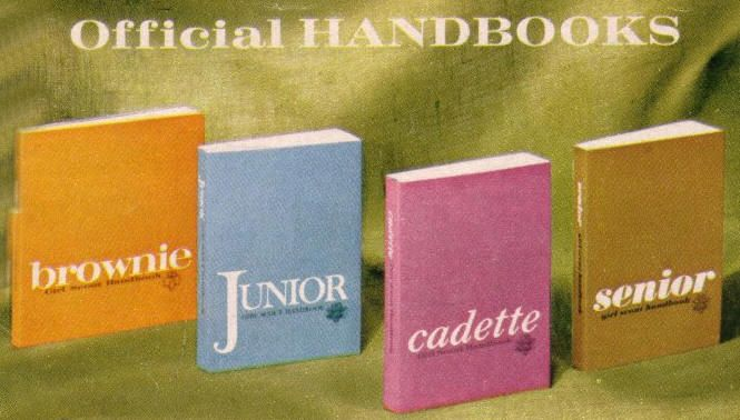 The new Girl Scout handbooks that started to issue in 1963. These are the books I remember.