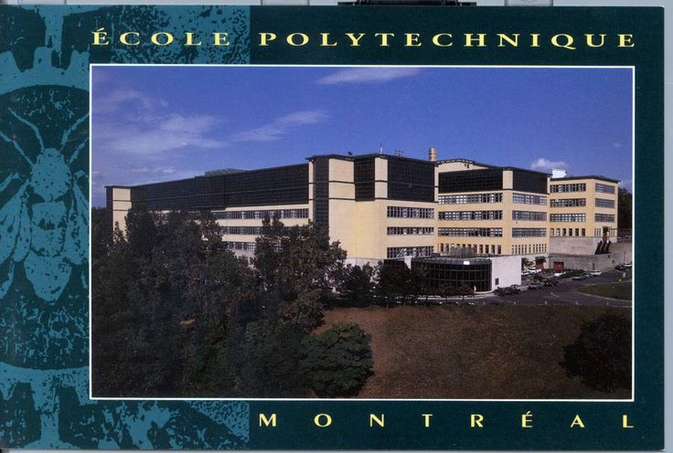 École Polytechnique de Montréal, Engineering School of the University of Montreal.  I worked here at the Computing Center (Service Informatique) for 30 years, from 1981 to 2011 and retired. Ecole Polytechnique, juste après la Campagne de 50,000 pied-carrés. Circa 1980's