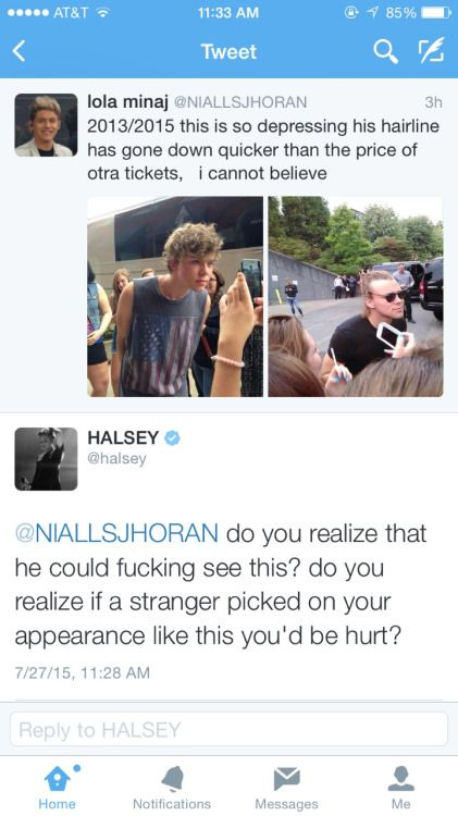 // thank you Halsey for protecting everyone BECAUSE OU ARE THE SWEETEST PERSON EVER