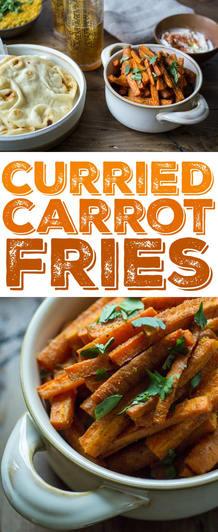 Four ingredients and thirty minutes are all you need to whip up a batch of these tasty Curried Carrot Fries!