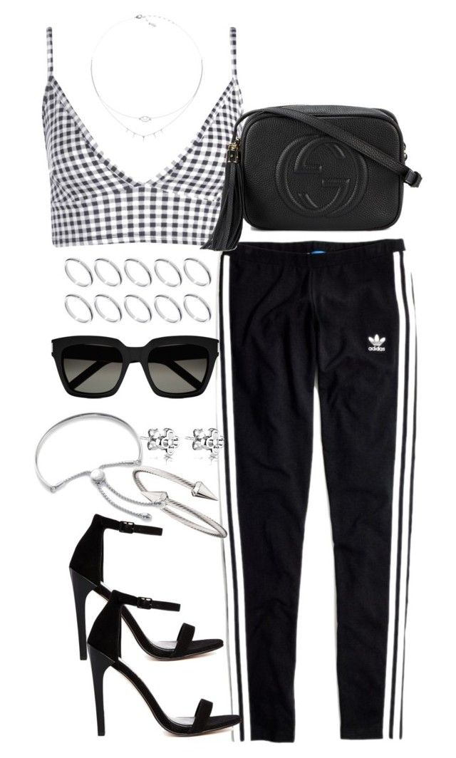 """""""Untitled #3817"""" by theeuropeancloset ❤ liked on Polyvore featuring Madewell, Boohoo, Gucci, ASOS, Yves Saint Laurent, Jules Smith and Monica Vinader"""