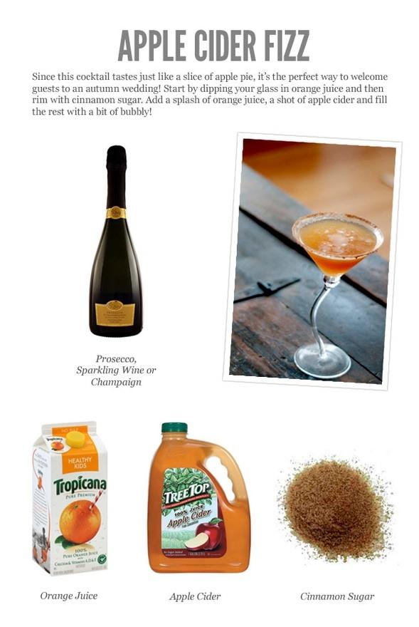 Fall wedding drink
