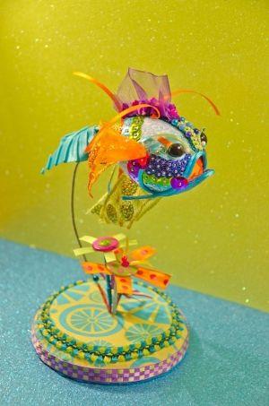 Black Eyed Peace Koi Goldfish Ornament by BrookeConnorDesign. . by geraldine