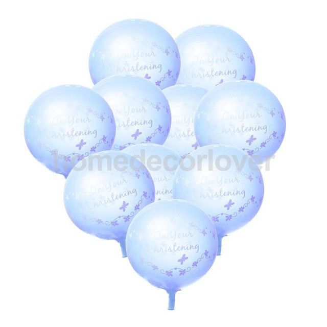 10pcs Happy Engagement /On Your Christening/He or She/Baby Shower Latex Balloons Wedding Party Decorations