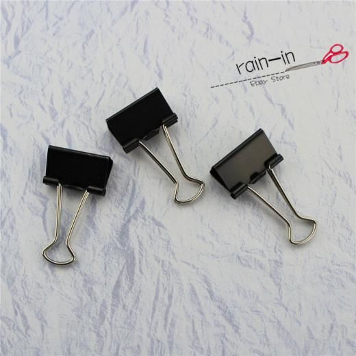 30pcs 19mm Black Documents Papers Binder Folder Clips For Child Study Office F01 China