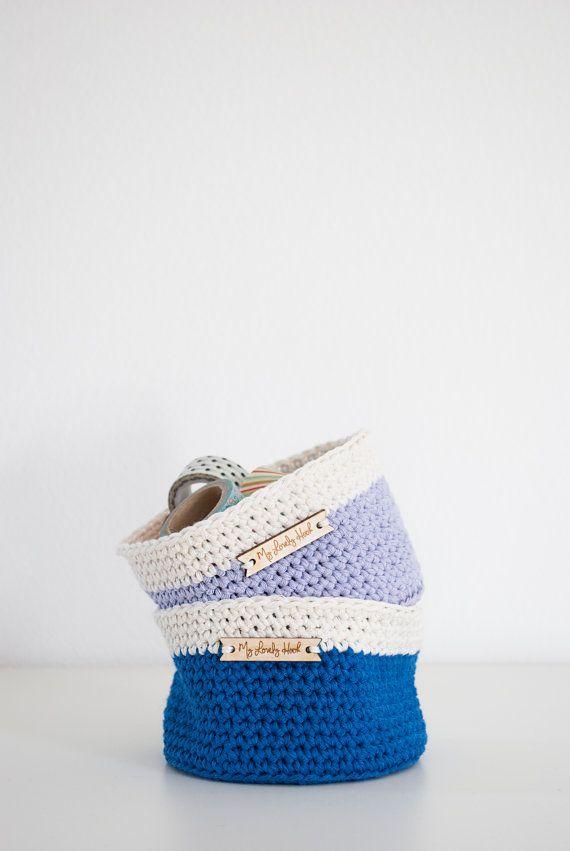 Crochet basket PDF pattern (size S) / crochet home decor / MyLovelyHook