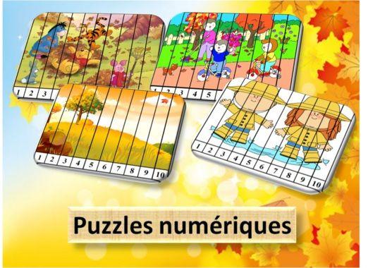 Voici des petits puzzles numériques sur le thème de lautomne , il y en a 7 au total. Cela...