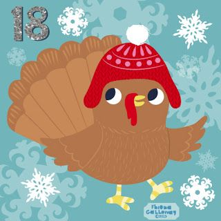 fhiona galloway illustration blog: Advent 18-a cute ickle Turkey :0)