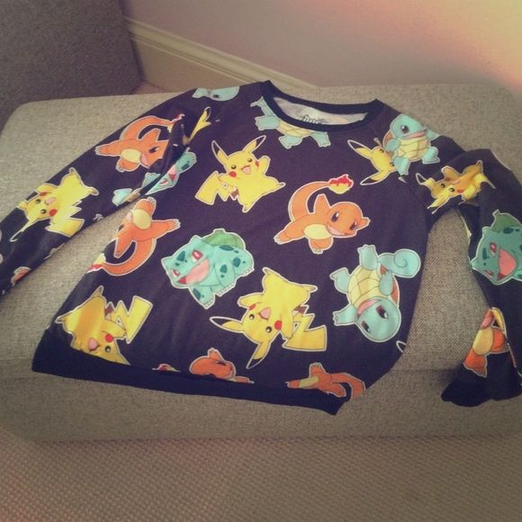 Hot Topic Pokémon sweater Size small, but fits an XS easily. Comfortable and has no flaws whatsoever. Open to trades Hot Topic Sweaters
