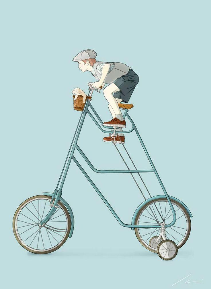 Les étranges concepts de vélos de l'illustrateur Ibai Eizaguirre Sardon