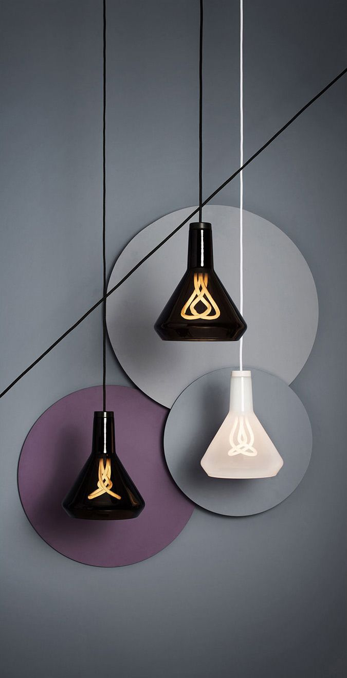 Plumen minimal style pendant lamps with cool bulbs