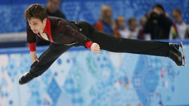 Le patineur Français Brian Joubert sur la patinoire de Sotchi (Russie) pour les ses derniers Jeux olympiques, le 14 février 2014. | ALEXANDER DEMIANCHUK / REUTERS