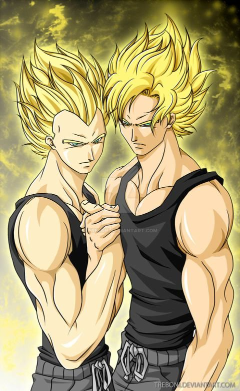 Vegeta and Goku Saiyan Bros for life