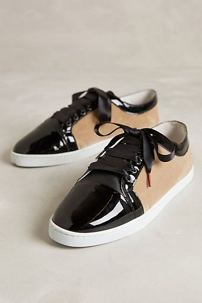 Cap-Toe Velvet Lace-Ups - anthropologie.com