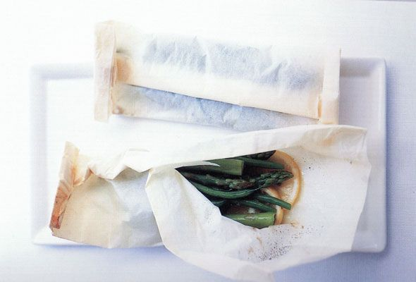 Steamed Veggies in Parchment Parcels