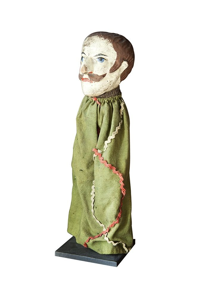 Buy Antique Punch & Judy Hand Puppet by Maxine Snider Inc. - Limited Edition designer Accessories from Dering Hall's collection of Folk Art Traditional Decorative Objects.