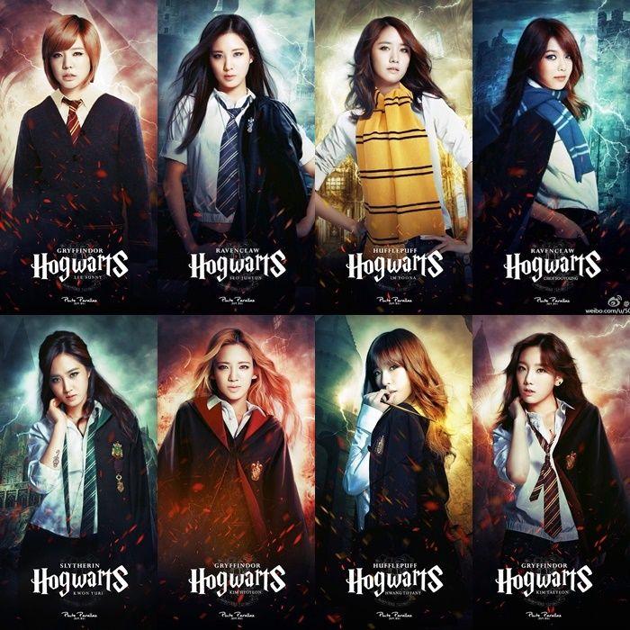 Kpop Hogwarts Kpop Harry Potter Kpop Idols Hogwarts Kpop Idols Harry Potter Snsd Harry Potter Snsd Hogwarts Buku Harry Potter Selebritas Gambar