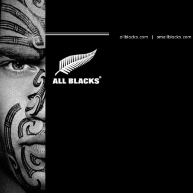All Blacks - New Zealand rugby team, that me and my husband support
