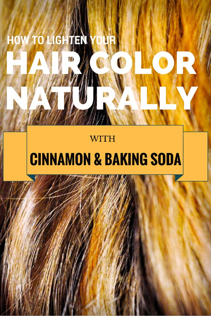 Learn how to lighten your hair color naturally with cinnamon and baking soda.