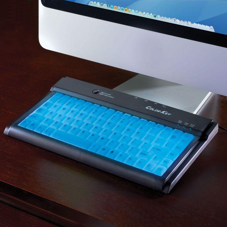 For those late night novel sessions.  The Illuminated Keyboard.