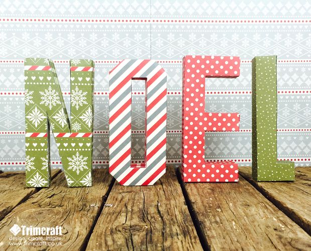 Festliche 3D druckbare Noel Briefe mit kostenlosen Vorlage   – Homemade Christmas Decoration